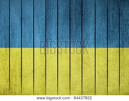 Wooden Flag Of Ukraine