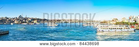 Panorama Of The Golden Horn Bay
