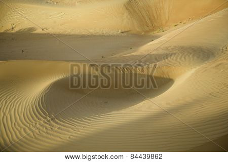 Part of dunes of sand desert