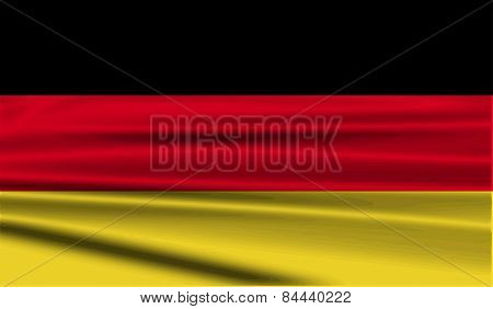 Flag Of Germany With Old Texture. Vector