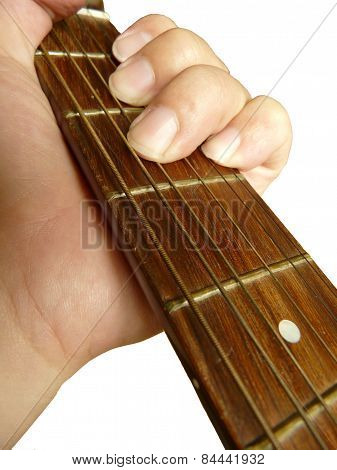 Acoustic Guitar With Hand by