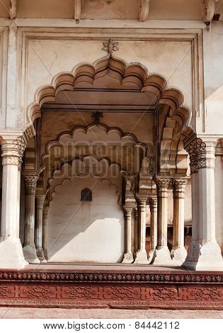 Arch Of Diwan I Am, Hall Of Public Audience In Red Agra Fort