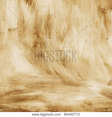 Abstract Textured Background Grunge Rusty Metal Surface Is Painted Bright Paint Sepia