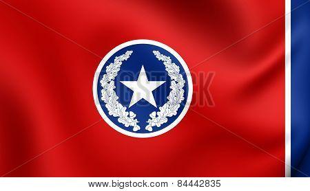 Flag Of Chattanooga, Usa.