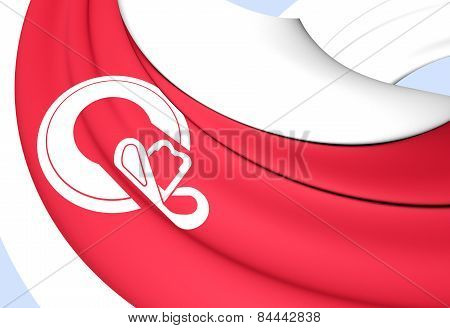 Flag Of Calgary, Canada.