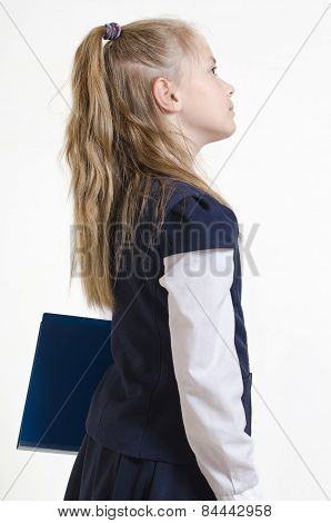 the schoolgirl with the plastic folder