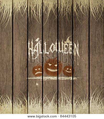 Wooden Halloween Background