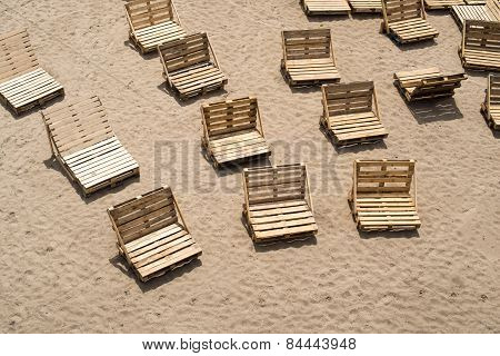 Deck Chairs Made Of Wooden Cargo Pallets
