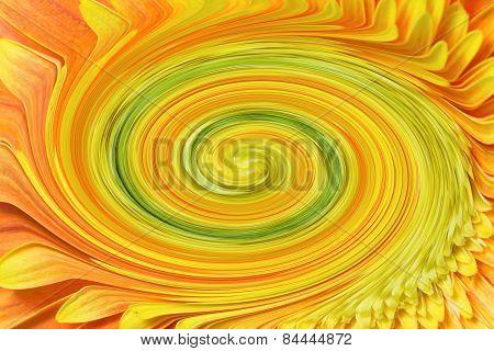 Abstract Flower Vortex