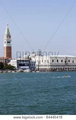 Doges Palace In Summer Venice