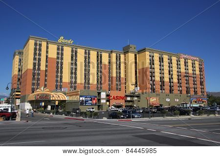 Reno, Usa - August 12: Sands Hotel And Casino On August 12, 2014 In Reno, Usa.  Reno Is The Most Pop