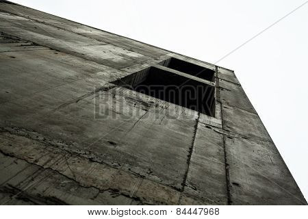 Concrete Wall Of The Unfinished Building