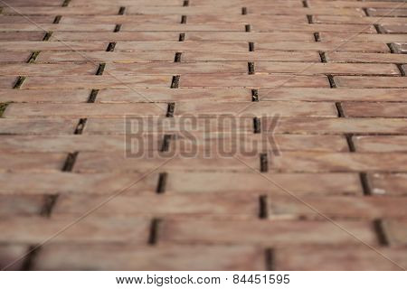Sidewalk Tiles In Brown Togas Leaving Forward