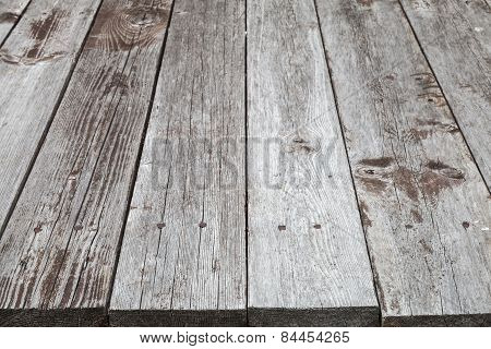 Old Gray Wooden Table, Background Photo Texture