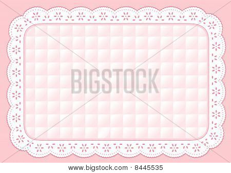 Pastel Quilted Place Mat