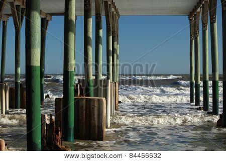 Peering under the Pier