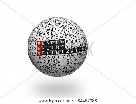 Seo ,search Engine Optimization 3D Ball