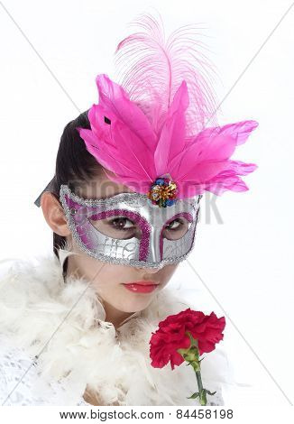 Pretty masquerade girl