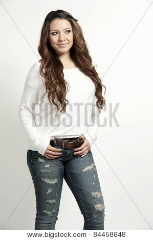 brunette young girl