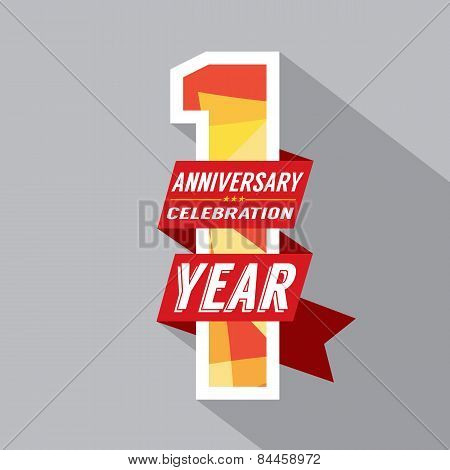 First Year Anniversary Celebration Design.