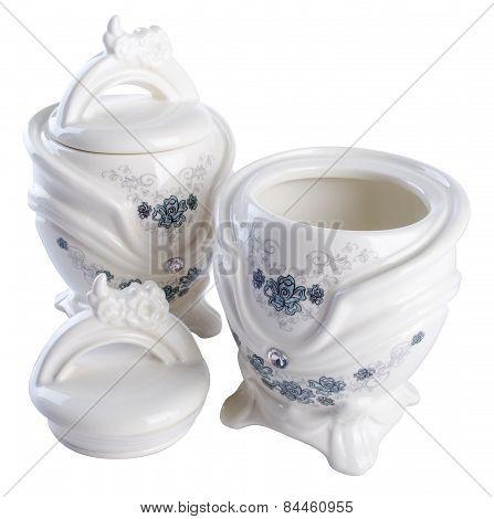 Jar. Ceramic Jar On Background. Ceramic Jar On A Background.