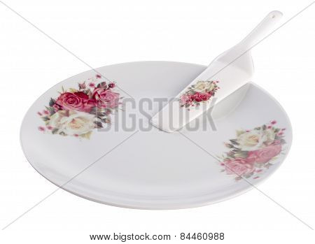 Plate. Cake Plate On A Background. Plate. Cake Plate On A Background.