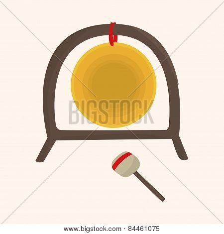 Music Gong Theme Elements Vector,eps