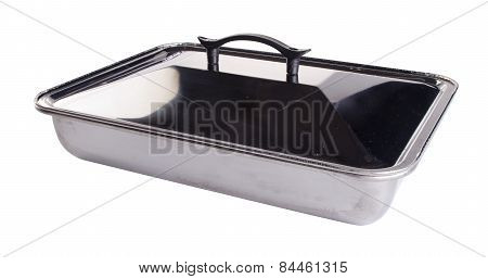 Food Containers, Stainless Steel Food Containers On A Background