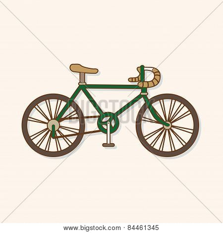 Transportation Bike Theme Elements Vector,eps