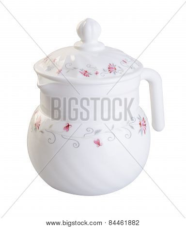 Teapot. Teapot On Background. Teapot On A Background.