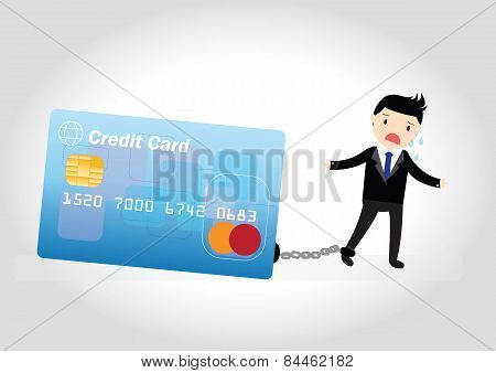 Credit Card Debt Concept