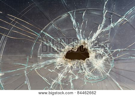 destroyed window