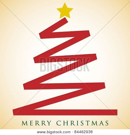 Scribble Christmas Tree Card In Vector Format
