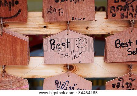 Best Seller Wooden Sign
