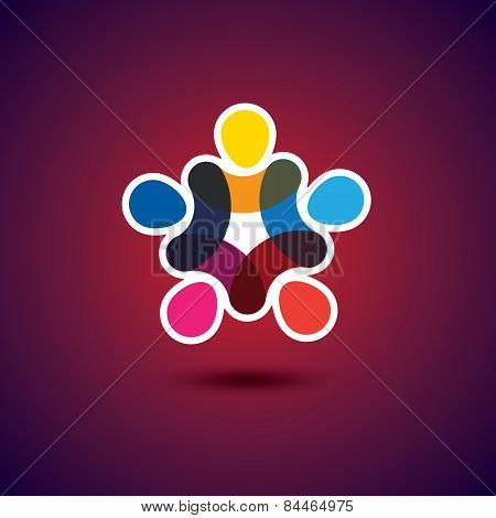 Concept Of Community Unity, Solidarity & Friendship - Vector Graphic