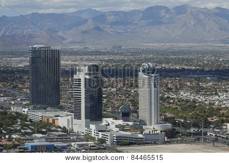 Aerial view of The Palms Casino Hotel in Las Vegas