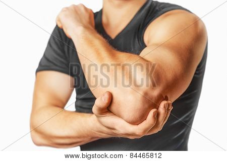 Pain in an elbow joint