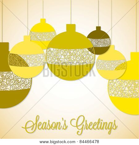 Retro Filigree Baubles In Vector Format.