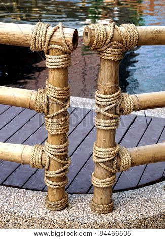 Wrapped Rope On Bamboo