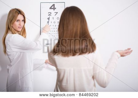 Woman Suffering For Myopia