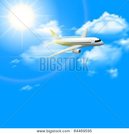 Realistic Plane Poster