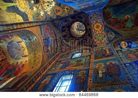 Church Of The Savior On Spilled Blood Interior