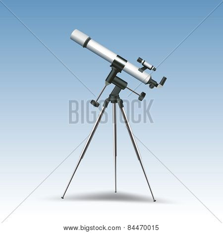 Telescope Realistic Illustration