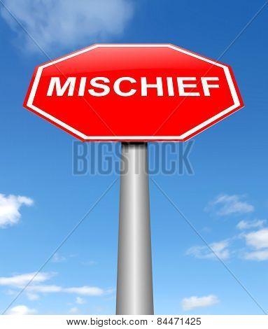 Mischief Concept.