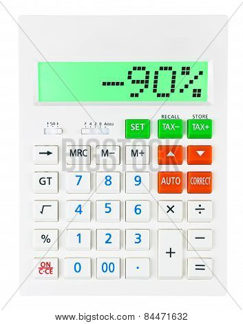 Calculator With -90