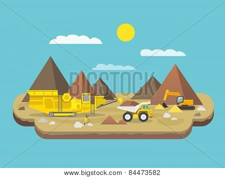 Quarry Flat Illustration