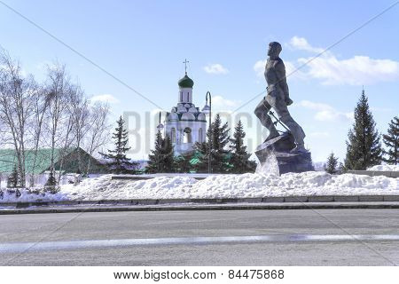 Kazan. Square On 1 May. Monument Musa Jalil
