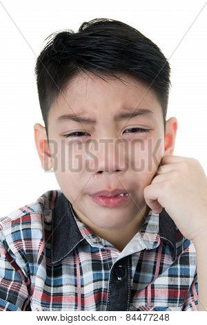 Asian Cute Boy Sad And Crying