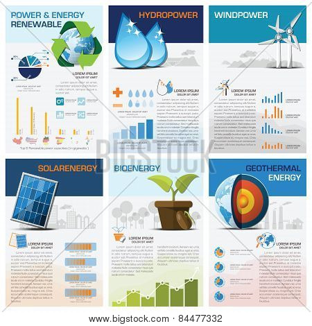 Power And Energy Renewable Chart Diagram Infographic