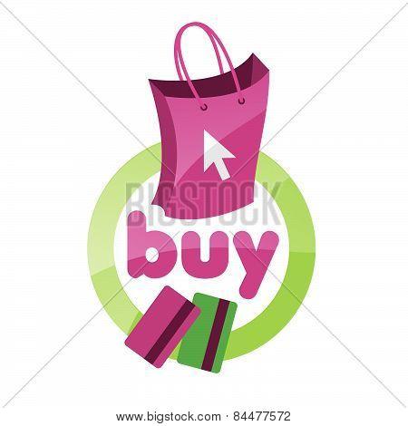 Vector Icon Shopping Bag, Basket